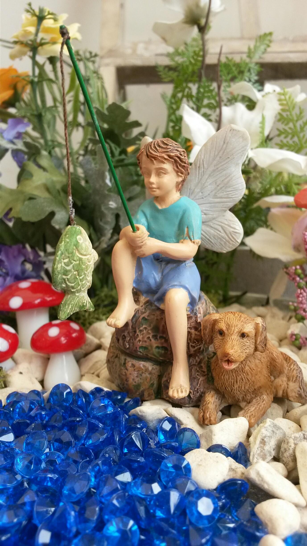Gone Fishing Boy Fairy Fairygardensuk Co Uk