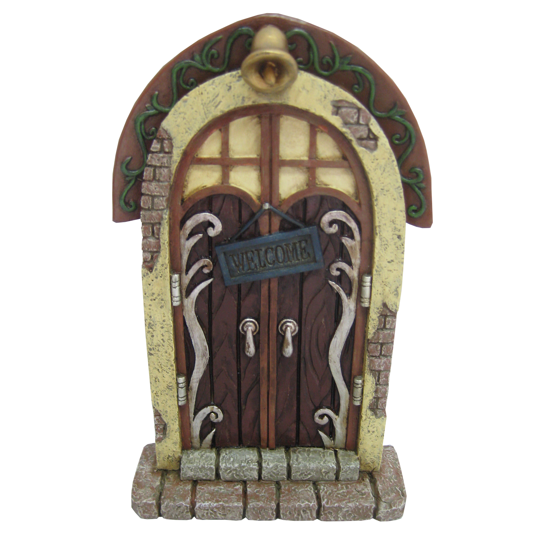 Bell fairy door for Large gnome doors
