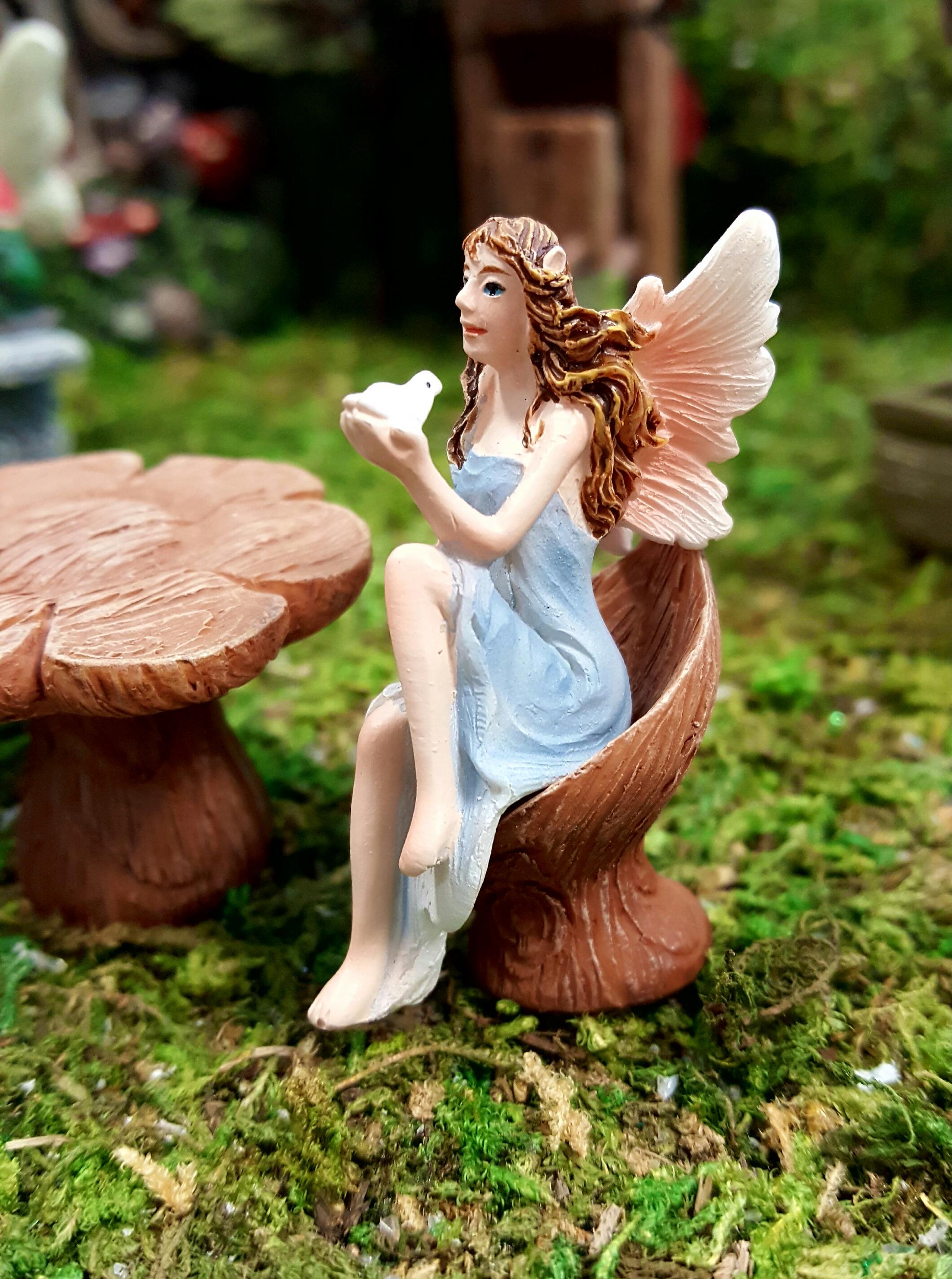 2 Sitting Fairies Fairygardensuk Co Uk