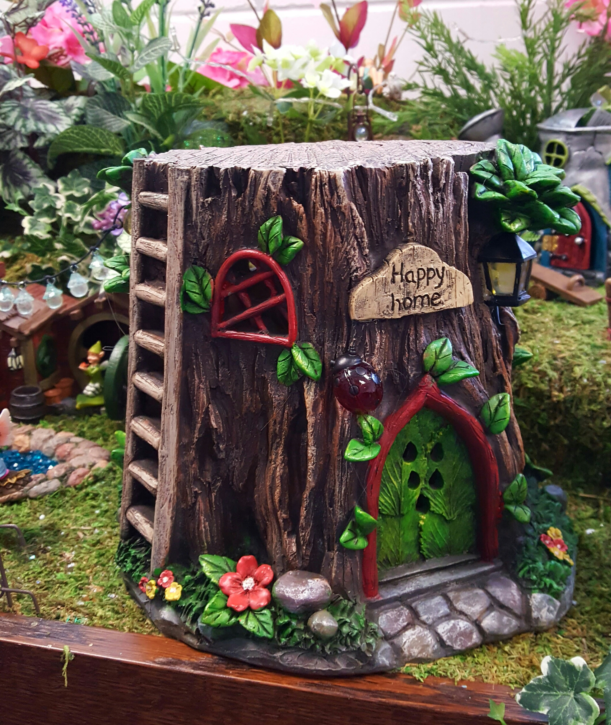 Tree Stump Fairy House Fairygardensuk Co Uk