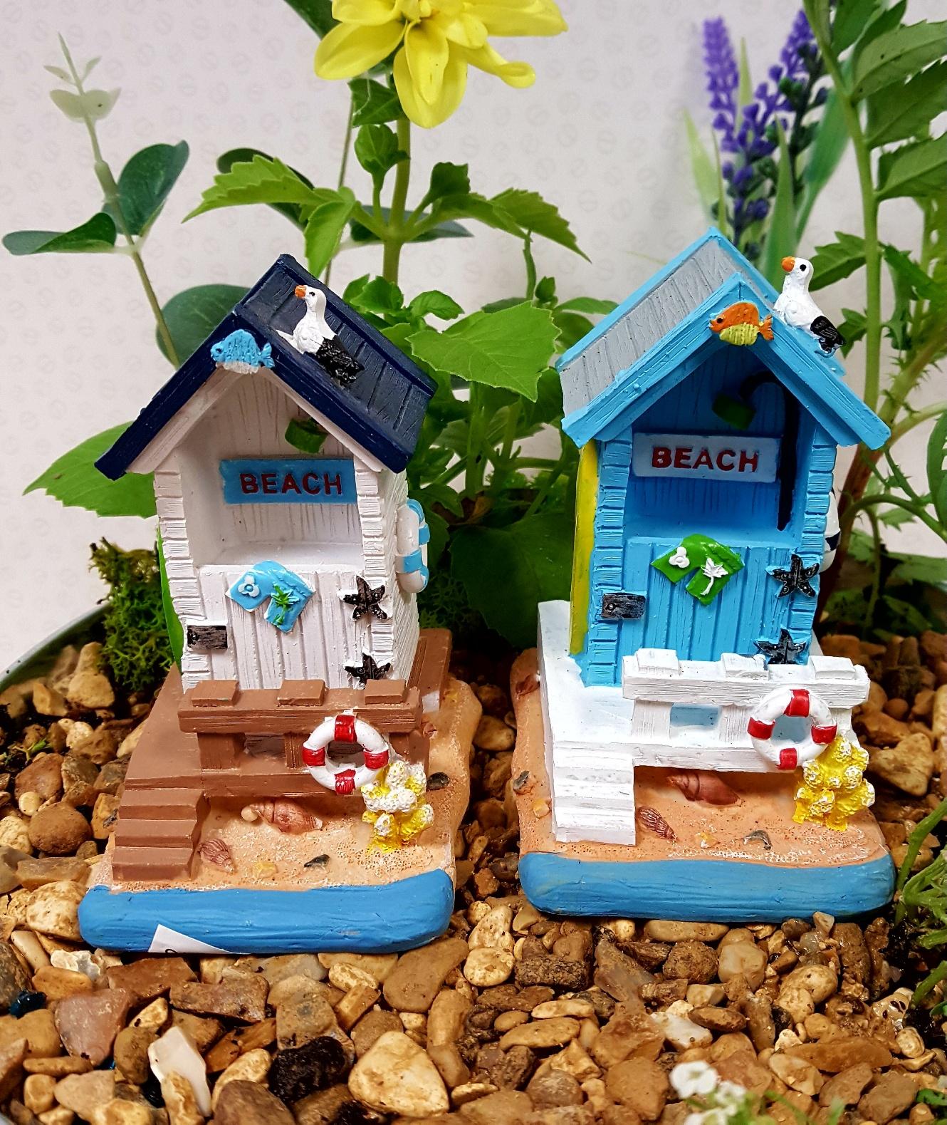 Small Beach Hut Fairy Gardens Uk