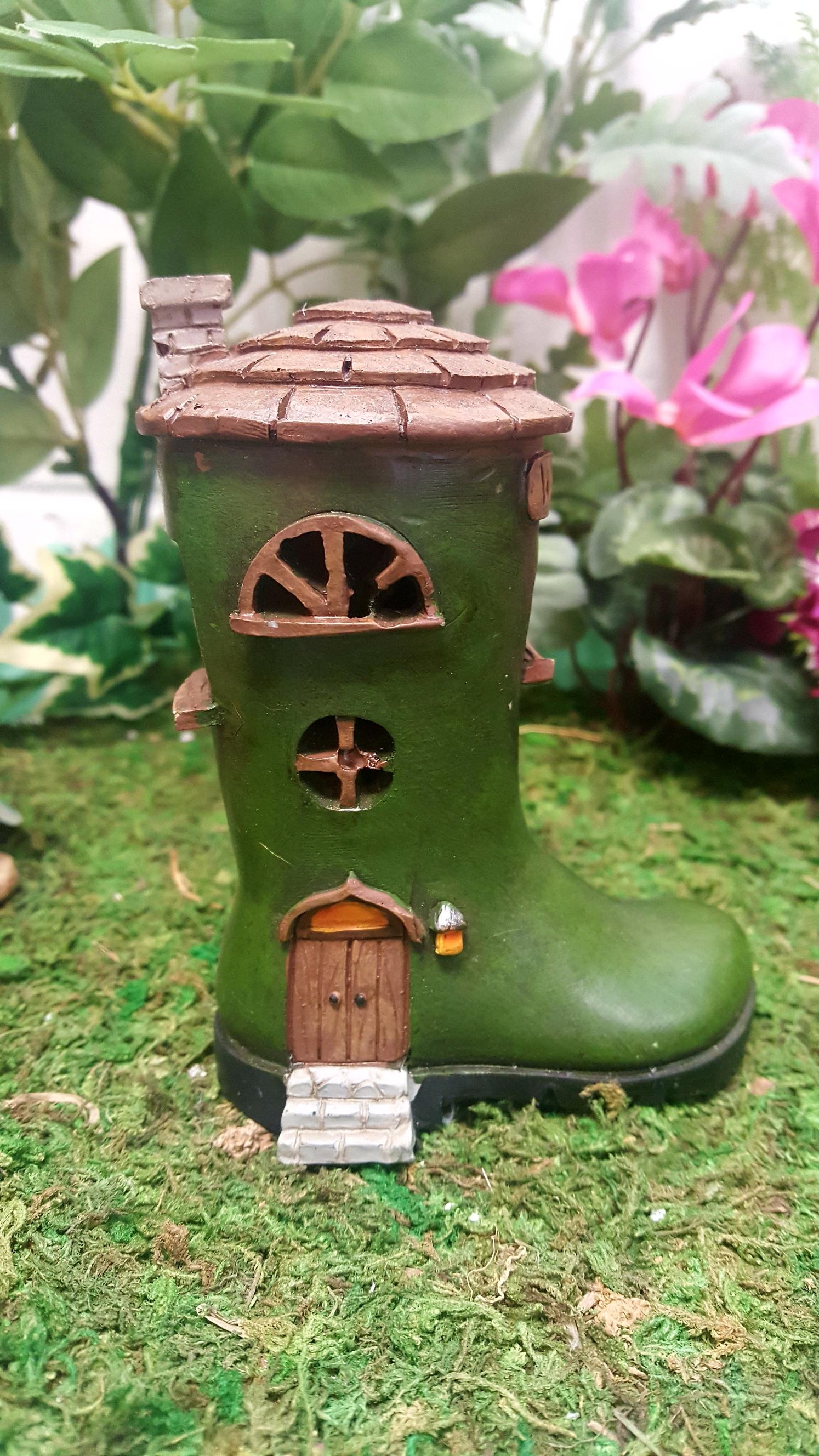 Led Wellington Boot Fairy House Fairy Gardens Uk