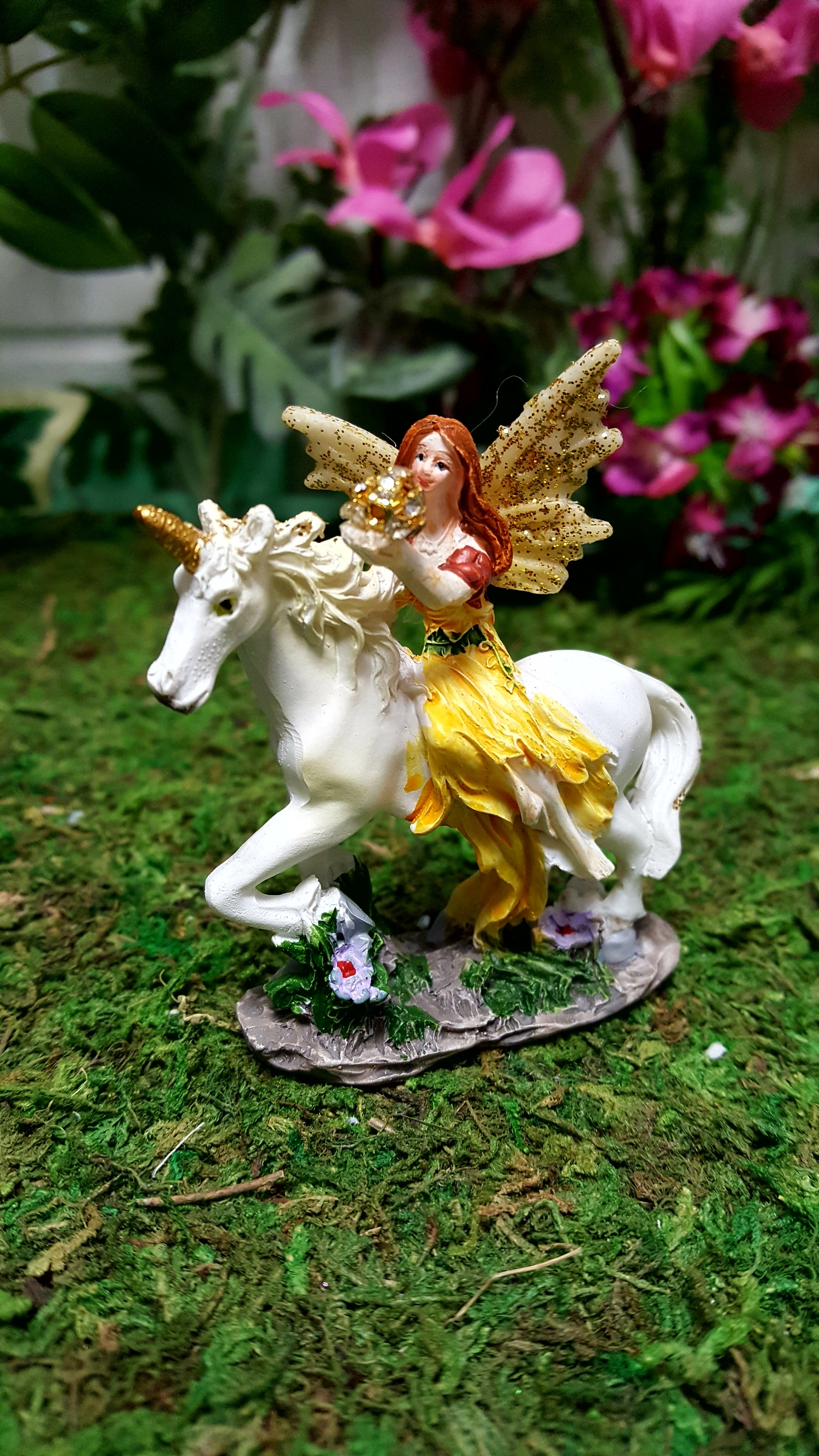 Flower Fairy And Unicorn In A Bag Fairy Gardens Uk