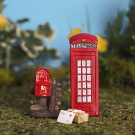 Post Boxes,Telephone Boxes, Wishing wells